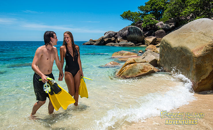 Swimming Off The Beach With A Fitzroy Island Activity Pass