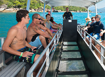 Full Day Great Barrier Reef Islands with Glass Bottom Boat
