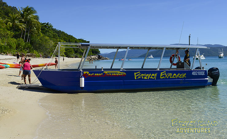 Glass Bottom Boat Tour at Cairns Great Barrier Reef Islands