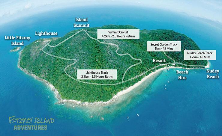 Fitzroy Island Map Walking Tracks