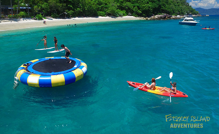 Half Day Great Barrier Reef Cruises with bonus ocean trampoline