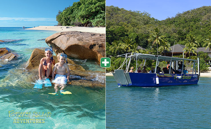 Cairns Great Barrier Reef Islands Snorkeling and Glass Bottom Boat